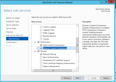 IIS Dynamic Compression Feature