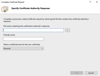 IIS Complete Certificate Request