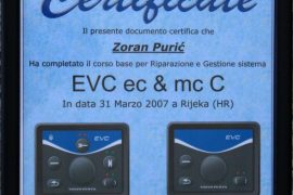 volvo EVC certificate