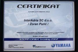 yamaha certificate 1