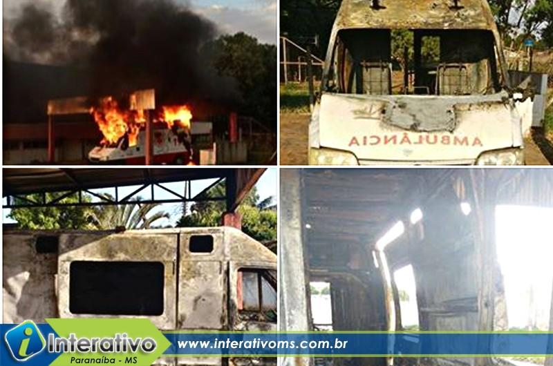Polícia Civil esclarece incêndio em ambulância do Samu em Paranaíba