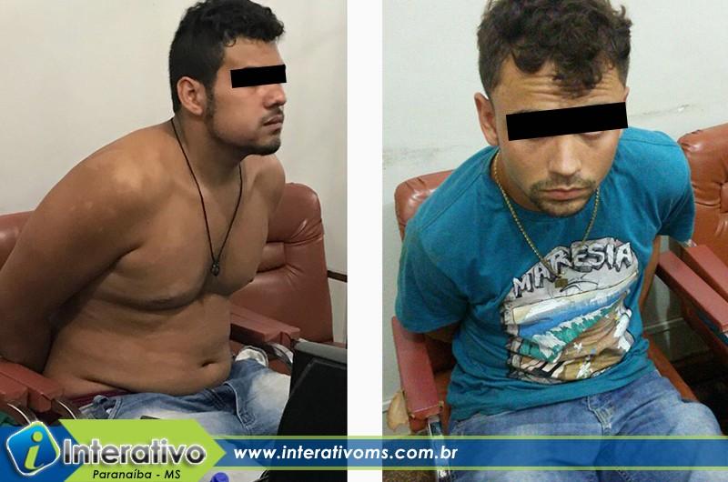 Polícia Civil de Paranaíba prende suspeitos de assalto a joalheria