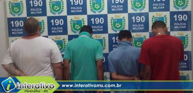 PM de Paranaíba prende quatro pessoas por sequestro