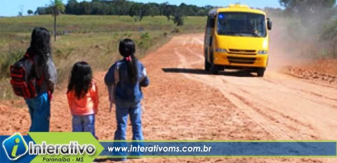 Pais de alunos da zona rural de Paranaíba farão protesto na segunda-feira