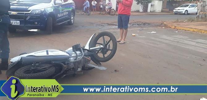 Gêmeas sofrem grave acidente de moto no Industrial de Lourdes
