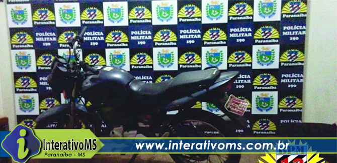 PM recupera motocicleta furtada em Paranaíba