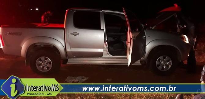 Após perseguição PM de Paranaíba recupera camionete furtada