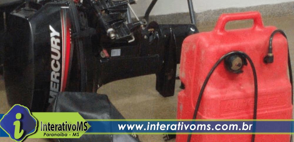 PM de Paranaíba recupera motor roubado