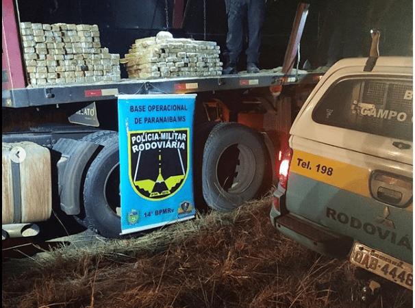 Polícia Rodoviária Estadual de Paranaíba apreende 600 Kg de maconha