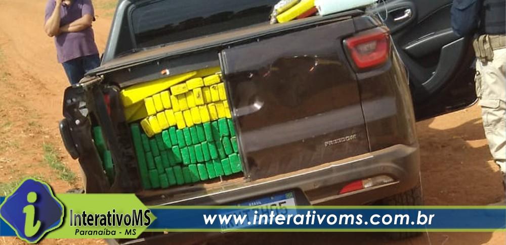 PRF apreende camionete lotada com maconha e skank  em Paranaíba