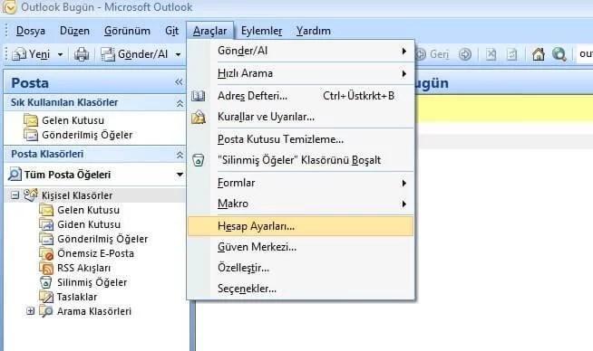 Yandex Mailleri Outlook'ta Kullanma (2/5)