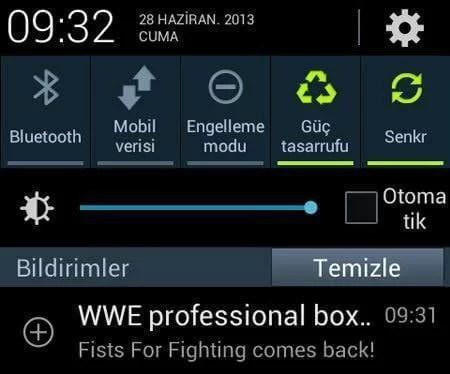 Android uygulama bilgisini göster