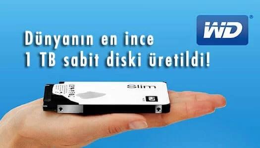 Dünyanın en ince 1 TB sabit diski WD-Blue