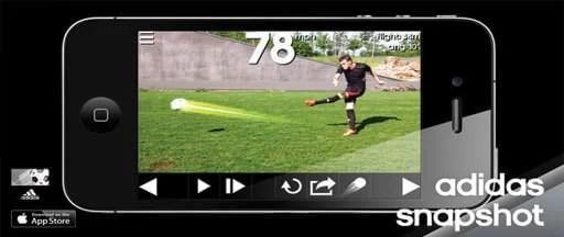 Futbol topunu takip eden uygulama Snapshot