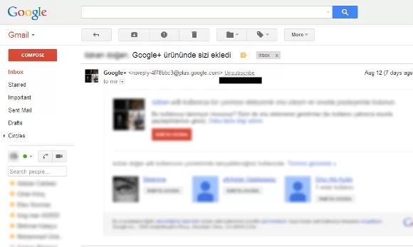 Gmail istenmeyen e-posta engelleme