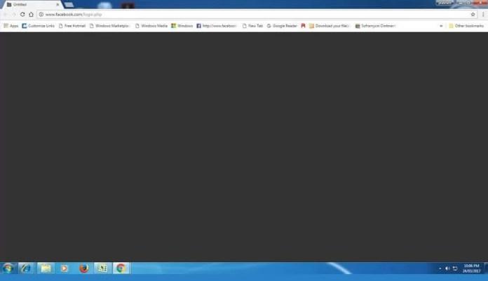 Google chrome Siyah Ekran Sorunu Çözümü