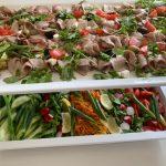 Intercatering menu, hot meals salad catering