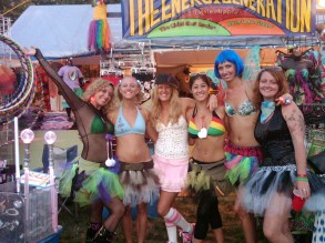 The Little Hippie crew at Gathering of the Vibes 2010