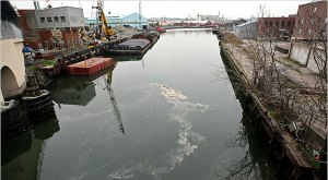 Polluted Industrial Canal