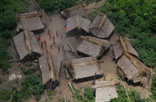 Aerial view of Irotatheri village, Friday, Sept. 7, 2012.  Photo: AP / AP