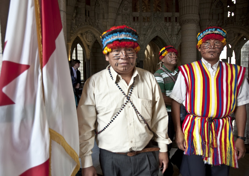 Achuar leaders in Ottawa, Canada (2012) Photo by Amazon Watch