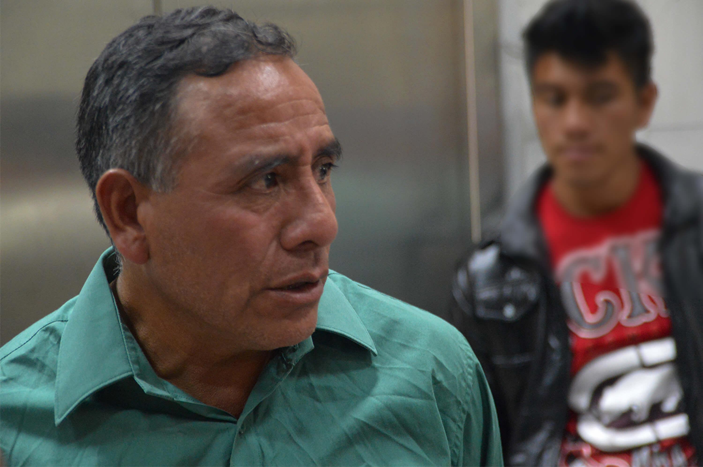 Domingo Baltazar at the Preventive Detention Center. Photo by Nelton Rivera, Prensa Comunitaria