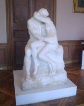 Rodin's The Kiss represents Paolo and Francesca from the Inferno.