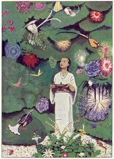 From Aladdin und die Wunderlampe, by Ludwig Fulda, Illustrated by Max Liebert