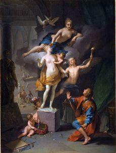Pygmalion. Jean raoux. 1717