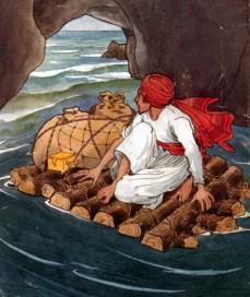 Sinbad during sixth voyage by Rene Bull (1870-1946)