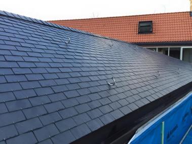 Natuurleien gebogen dak