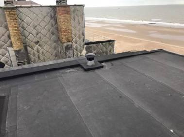 Renovatie plat dak wenduine 3