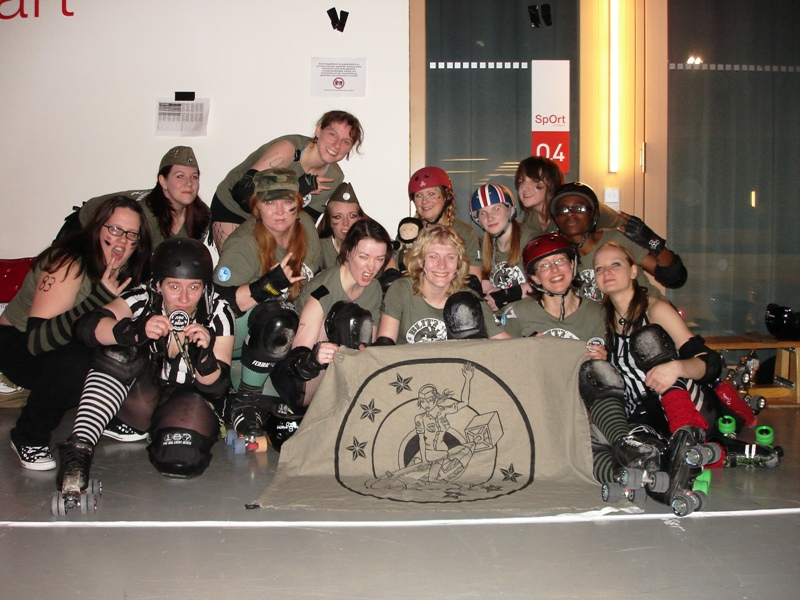 The Blitz Dames after their win