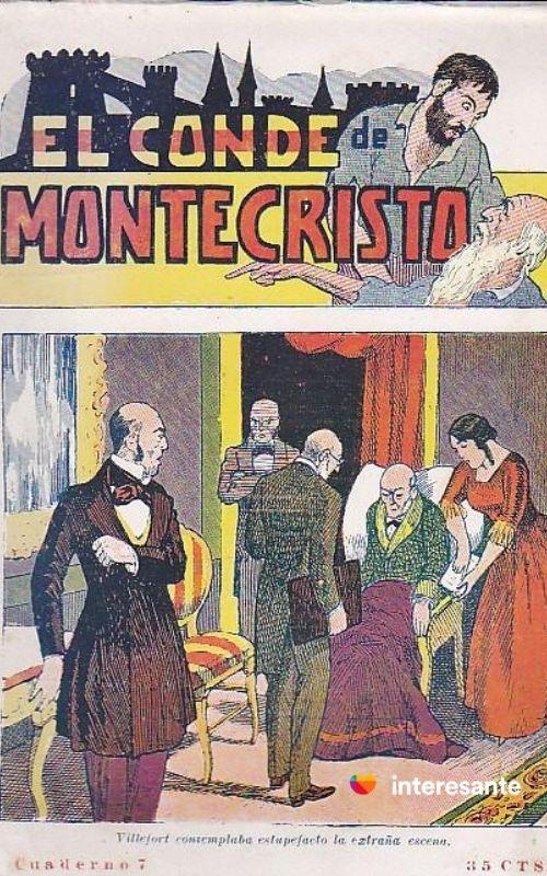 Origen de las series: Portada novela de folletín El Conde de Montecristo