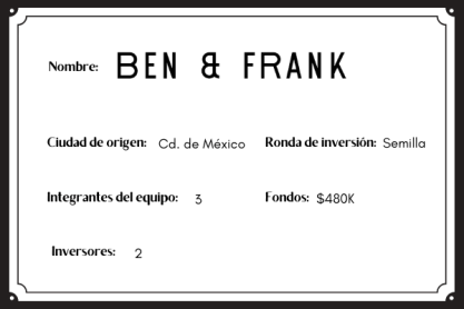 BEN & FRANK  mujeres emprendedoras