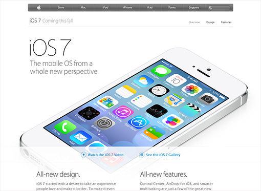 Apple iOS 7 オフィシャルサイト
