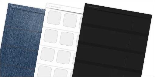 シンプルでかっこいい iPhone 4/4S ホーム画面用壁紙