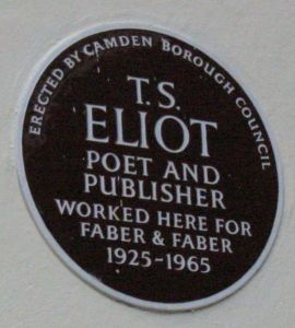 Eliot plaque
