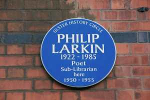 Philip Larkin plaque