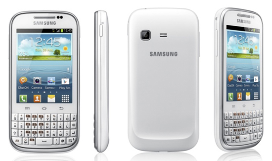 Samsung GALAXY Chat With Android 4.0 And QWERTY keyboard