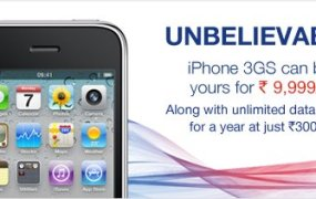 Apple iPhone 3GS For Just Rs. 9999 From Aircel India