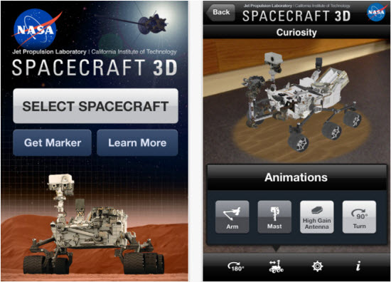 NASA launches Spacecraft 3D Augmented Reality app for iOS