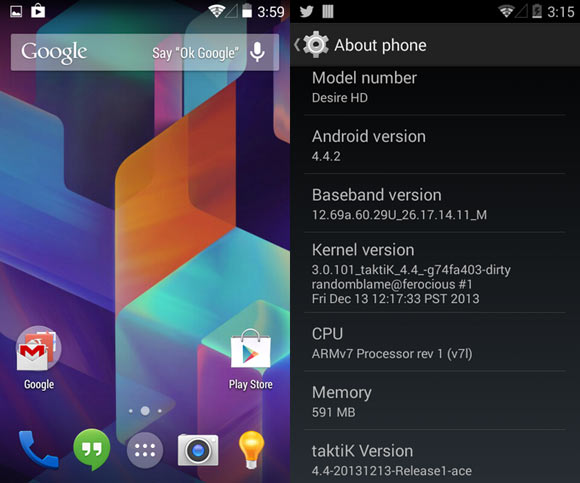Install Custom Kitkat 4.4.2 Rom On HTC Inspire 4G And Desire HD