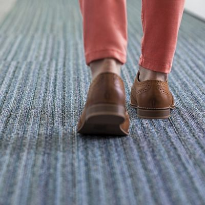 modular carpet tile about interface