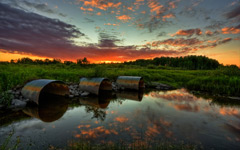 High-resolution desktop wallpaper 3 Culvert Sunset by TheReal7