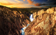 High-resolution desktop wallpaper Lower Falls, Yellowstone by Macindows