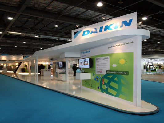 eco construction brand exhibition design