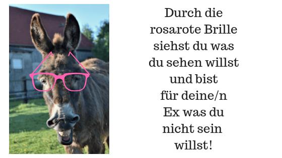 Die rosarote Brille ist schlecht für die Beziehung