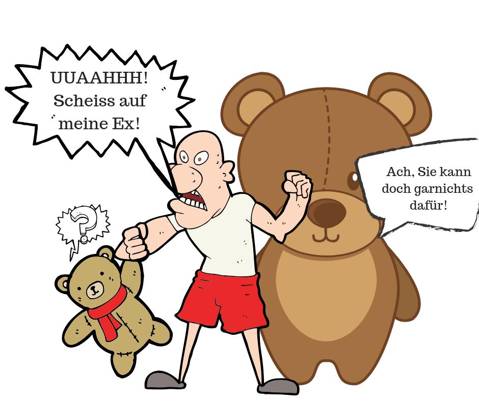 wann vermissen maenner ihre ex - aggressor zu teddybaer