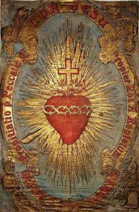Artist interpretation of the Sacred Heart.